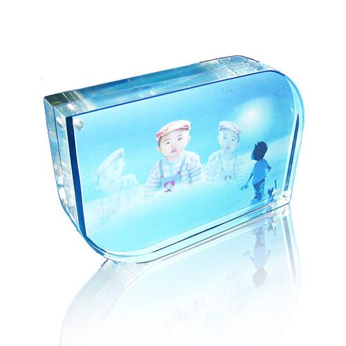 透明水晶座磁石相框