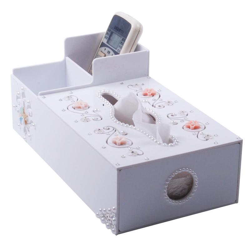#Model-6115多功能鏤空雕花進口亞加力物料紙巾盒