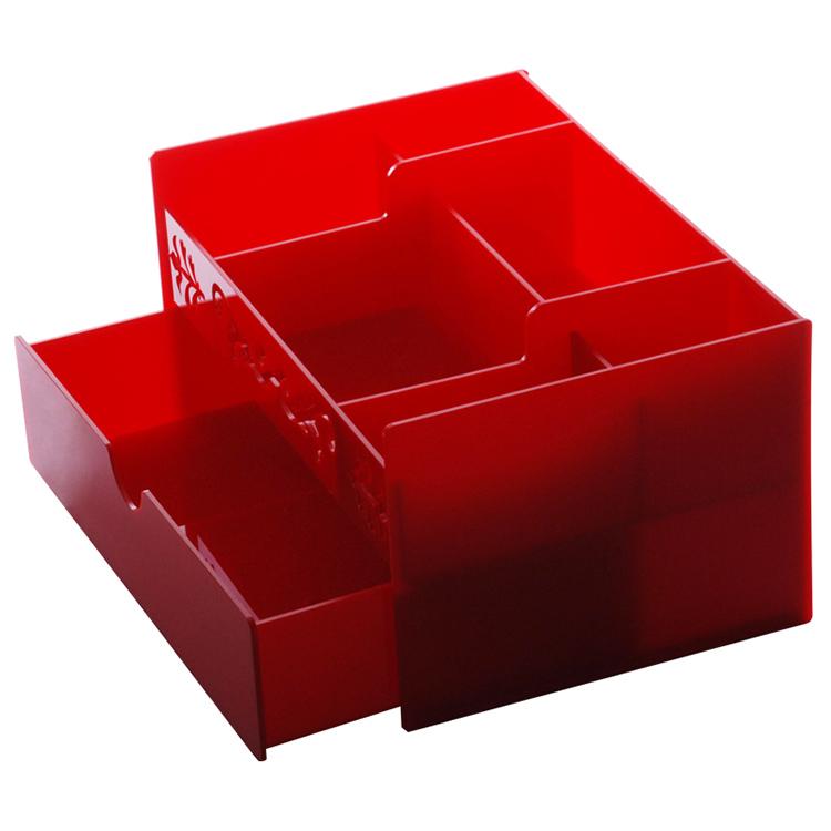 #Model-XI6141X多功能紅色化妝品亞加力收納盒