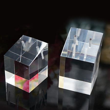 透明亞加力膠水晶座