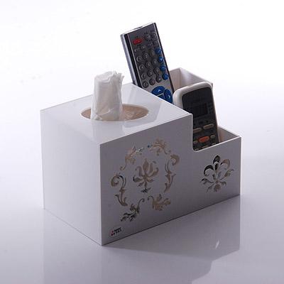 #Model-6109歐式亞加力紙巾盒,多功能遙控器收納盒