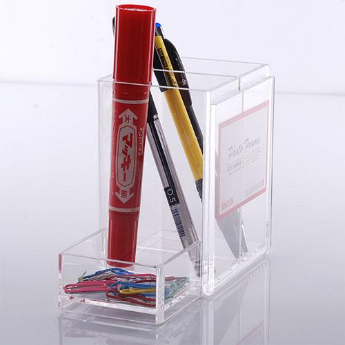 #Model-XI8039透明亞加力筆架 文具架 筆筒