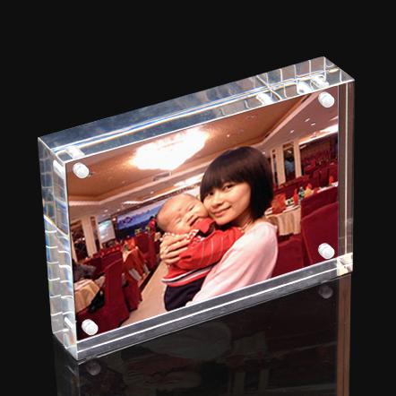#Model-XI6150透明水晶亞加力相框磁鐵相架