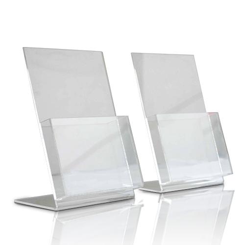L型透明亞加力單張架 冊子架
