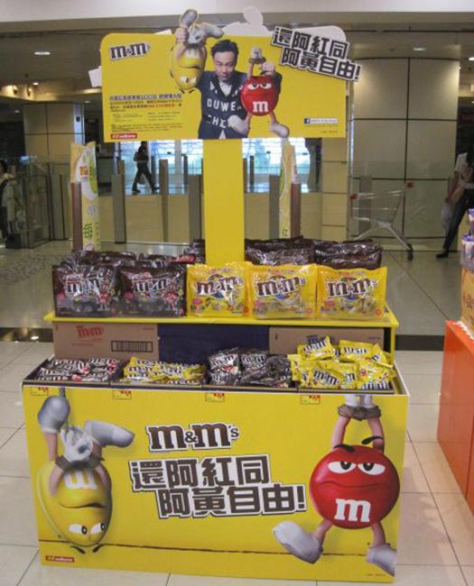 惠康M&M's陳列 Mage Display