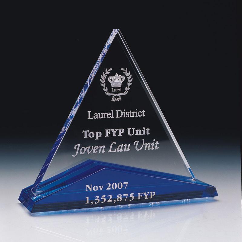 三角形水晶獎座