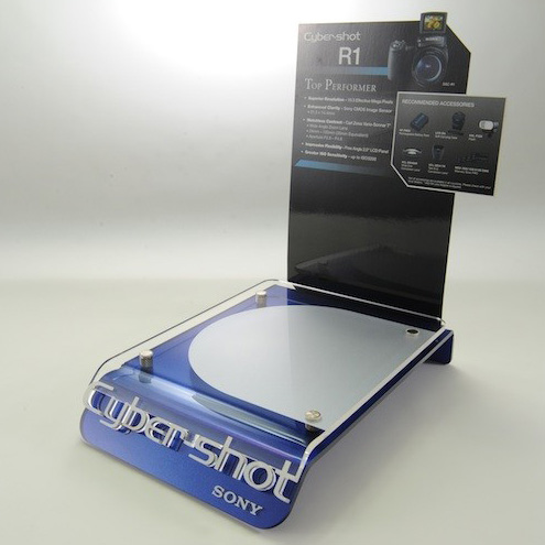 櫃台面L形相機展示壓克力膠架